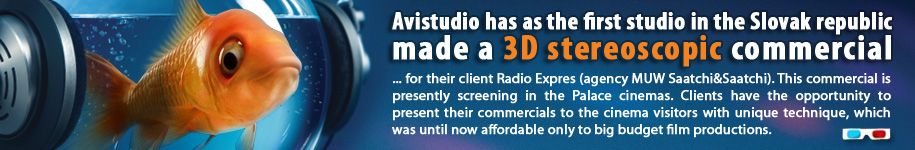 Avistudio has as the first studio in the Slovak republic made a 3D stereoscopic commercial